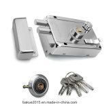Fechamento da borda da segurança da porta com cilindro dobro e cinco chaves
