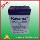 batterie d'acide de plomb de 6V 4ah AGM pour la lampe-torche, jouet