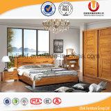 Tipo base européia da mobília do quarto do tamanho do dobro da madeira contínua da antiguidade (UL-C02)