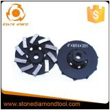 Roda de moedura do copo do diamante de Turbo para discos de moedura diamante de Concretesize 4-7 do ''