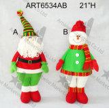 Decoración linda Gift-2asst. del hogar del muñeco de nieve de la arpillera