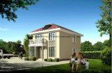Sunroomおよび温室が付いているプレハブの別荘