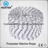 La corda colorata 6mm del poliestere intrecciata 550kg per ampiamente usa