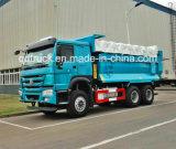 6X4 LHD 디젤 엔진 Zz3257 덤프 트럭