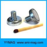 De fijne het machinaal bewerken Aangepaste Magneet van de Pot van het Neodymium met Externe Draad