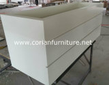 Corian Acrylic Solid Surface Covered Bathroom Vanity with Drawers