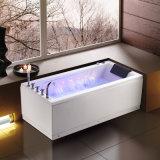 Banheira de massagem em canto com painel removível (K-1065)