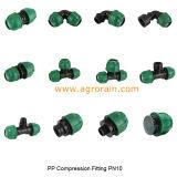 Encaixes da compressão dos PP que reduzem o acoplamento do T para a tubulação do PE da irrigação