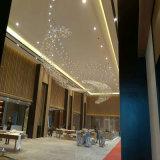 Lampada di cristallo di lusso moderna di Squar Pentand con l'hotel di Projece