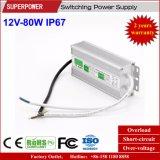 一定した電圧12V 80W LED防水切換えの電源IP67