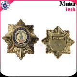 Emballage badge en métal de forme ronde Emamel Metal