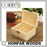 Caja de almacenamiento de estilo simple de madera para regalo