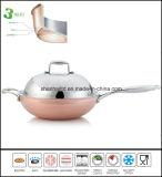 Cookware dell'articolo da cucina del Wok del rame del corpo di 3 strati