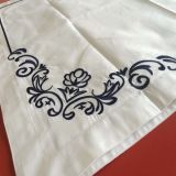 Fundamento 100% do bordado do algodão do cetim da qualidade superior ajustado (DPF2426)