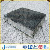 Panneau en aluminium de marbre en pierre noir de nid d'abeilles pour des matériaux de construction