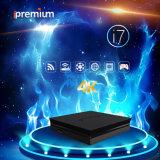 Ipremium I7 IPTV Ott TVのオンラインストーカーは世界的に使用されるのためのDVBのセットトップボックスのクォードのコア64ビット4k Mickyhop WiFi受信機を断絶する