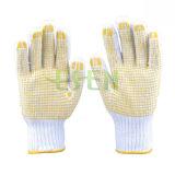 POINT de PVC confortable bon marché de gants de coton de ménage