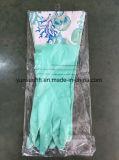 Перчатки домочадца длиннего тумака резиновый с хлопковым волокном внутрь