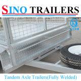 remorques complètement soudées de cargaison du cadre 4-Wheels galvanisées par 10X5