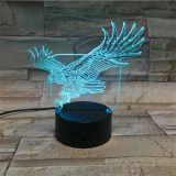 Decalques de acrílico para presentes e artesanatos 3D LED