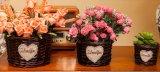 (BC-WF1023) Cesta natural hecha a mano pura de la flor del sauce