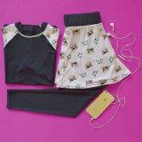 Gimnasia de mujer modificada para requisitos particulares compresión de 2 pedazos que funciona con la ropa de deportes respirable