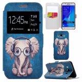 Чернь PU картины OEM кожаный/аргументы за Samsung J710 крышки телефона печати Filp бумажника клетки