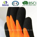 Enduit de nitriles, gants de travail de sûreté de fini de Sandy (SL-NS120)
