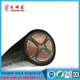 Cabo de alimentação de tensão média isolada de PVC de cobre