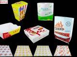 Bolsos imprimibles de la panadería del papel de Kraft de la categoría alimenticia de la talla de la insignia de encargo respetuosa del medio ambiente de la categoría alimenticia con la ventana