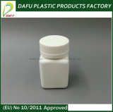 HDPE 50ml Quadrat-Pille-Plastikflasche