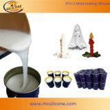 シリコーンゴムを作る蝋燭型