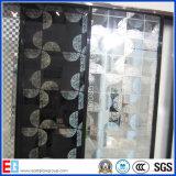 3mm-12mmパターン霜ガラス、パターン酸はガラスをエッチングした