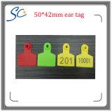 수 가축 ID를 위한 동물성 귀 꼬리표를 인쇄하는 50*42mm Laser