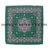 Atacado Custom Logo Printing Multifuncional Colorido Algodão Knitting Square Scarf