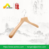 Percha de ropa de madera natural atractiva (ACH113)
