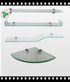 Claro Float Glass Frsoted estante de vidrio para el baño