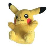 Jouet bon marché en gros de peluche pour la peluche molle bourrée par jouet jaune mignon fait sur commande de Pikachu de gosses
