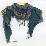 Sciarpa del triangolo di Boho, sciarpa europea di stile, tre strati dello scialle dell'accessorio di modo