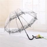 Ясный прозрачный Rainproof прямой зонтик для промотирования