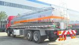 Aluminio resistente 25000 L carro de las ruedas de los árboles 10 de FAW 4 del depósito de gasolina