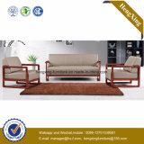 Sofa moderne de bureau de divan de cuir véritable de meubles de bureau (HX-CF016)