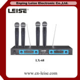 전문가 Lx-68 VHF 4 채널 무선 마이크