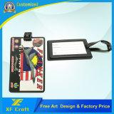 卸し売りカスタム柔らかいPVC旅行袋の札または旅行名札または金属IDの主札(XF-LT08)