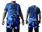 Correa de la seguridad en el trabajo del harness del poliester con el acollador doble de las correas