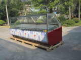 Caso di visualizzazione del Popsicle del gelato con il pallet di legno dell'esportazione