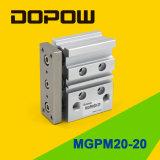 Cilindro lineare Mgpm20-20 dell'aria del cuscinetto dei Tri-Bastoncini di Dopow