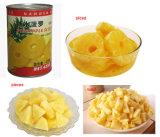 In Büchsen konservierte geschnittene Ananas im heller Sirup-natürlichen Geschmack