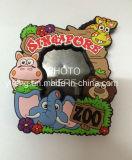 シンガポール旅行記念品PVC磁石が付いている柔らかい写真フレーム