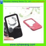 Ультратонкий карманный свет увеличителя 3X/5X СИД чтения кредитной карточки увеличивая Loupehw-212PA